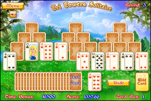 tri tower solitaire free online