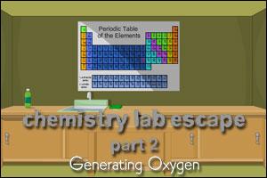 Chemistry Lab Escape, part 2: Generating Oxygen