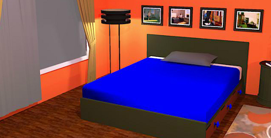 Orange Bedroom Escape