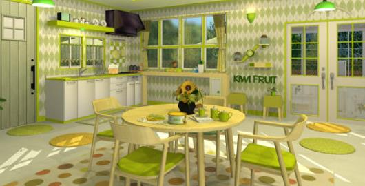 Fruit Kitchens Kiwi Green