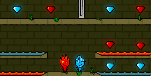 Fireboy and Watergirl The Forest Temple Game