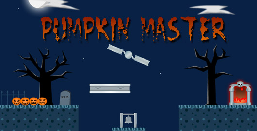 See if you can get four pumpkins safely to their destination! #PumpkinGames #FlashGames #Halloween