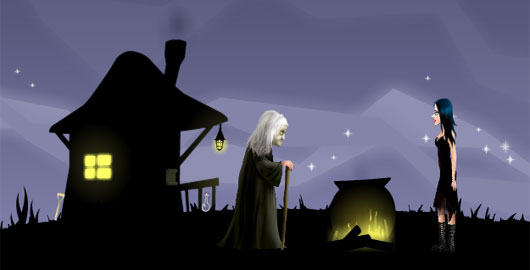 Help Ceila Raven fight the forces of evil as a good witch! #Halloween #HalloweenGames #PointAndClick