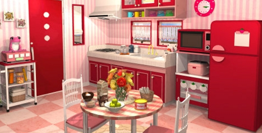 Fruit Kitchens Strawberry Red