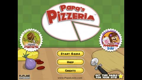 papas pizzeria home screen